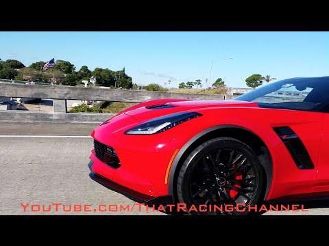 Ferrari encounters 2015 C7 Z06 on the street!