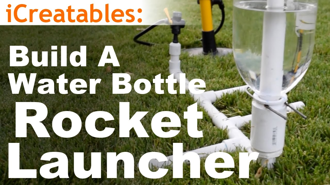 How to build the simplest water bottle rocket launcher youtube how to build the simplest water bottle rocket launcher solutioingenieria Image collections