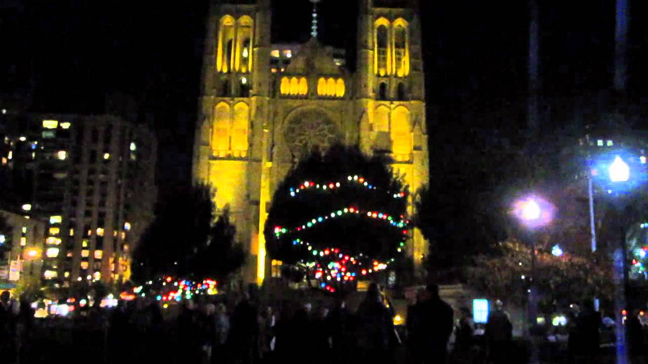 huntington park tree lighting ceremony grace cathedral bells san
