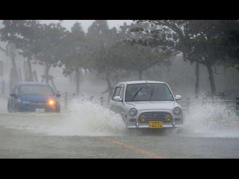Typhoon Vongfong churns toward Japanese Okinawa Islands