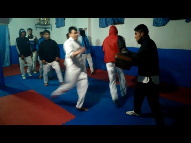 Taekwondo Mixed Pad Drill Kicks 720p HD (Hedayatullah Nazari Taekwondo Association Training)