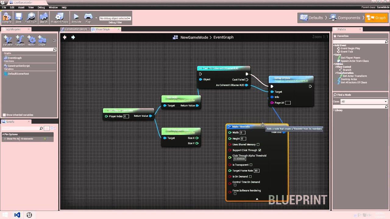 Unreal engine 4 tutorial coherent ui integration with blueprints unreal engine 4 tutorial coherent ui integration with blueprints malvernweather Gallery