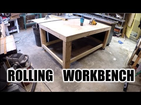 DIY | Awesome Rolling Work Bench | THE HANDYMAN