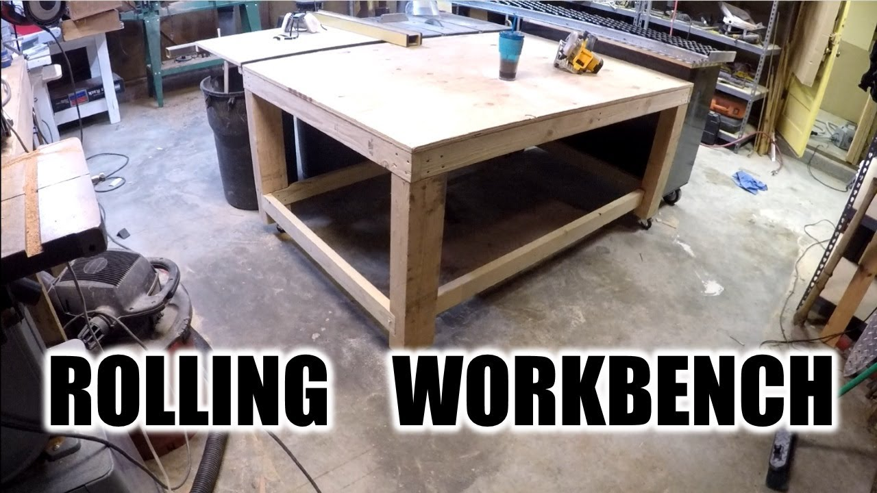 diy awesome rolling work bench the handyman - Rolling Workbench