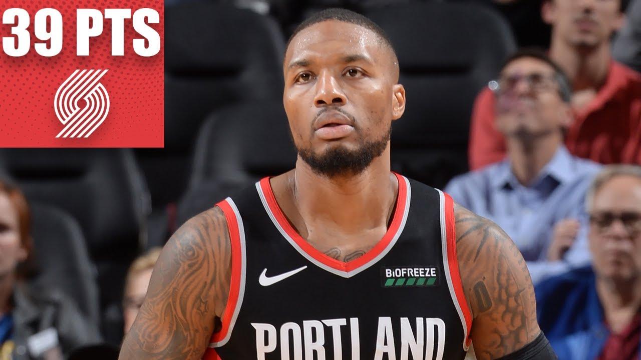 Damian Lillard heats up for 39 points in Trail Blazers vs. Warriors matchup | 2019-20 NBA Highlights