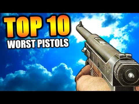 "Top 10 ""WORST PISTOLS"" in COD HISTORY (Top Ten) Call of Duty 
