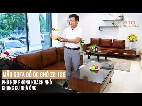 Bộ Bàn Ghế Sofa Gỗ Óc Chó Hiện Đại ZG 130 Cho Phòng khách Xu Hướng 2020