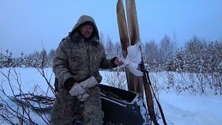 Охота на куропатку зимой с подхода