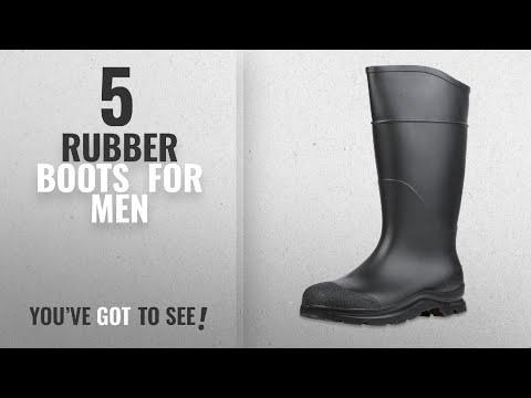 "Top 10 Rubber Boots [ Winter 2018 ]: Servus Comfort Technology 14"" PVC Soft Toe Men's Work Boots,"
