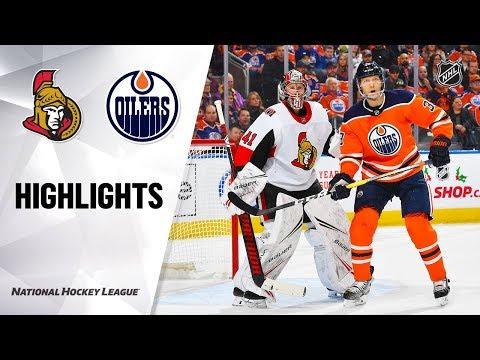 NHL Highlights | Senators @ Oilers 12/4/19