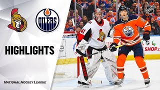 NHL Highlights | Senators @ Oilers 12/4/19