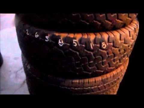 Largest selection of used tires sizes 265/65/18 BfGoodrich, Bridgestone, Pirelli, Toyo, Michelin