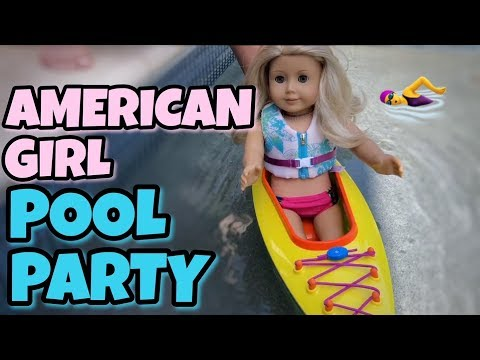 American Girl Doll Pool Party