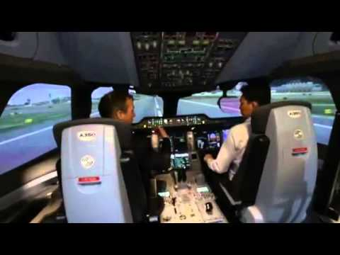 SIA's A350 XWB full flight simulator