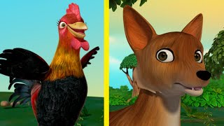 Rusty the Rooster and the Sly Fox - New Moral Stories for Children | Infobells