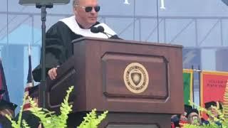 Actor Michael Keaton's hilarious ending to 2018 Kent State University graduation speech