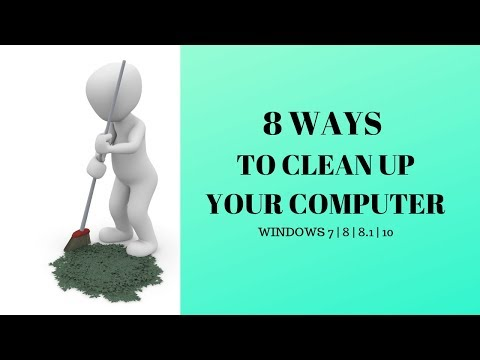 8 WAYS TO CLEAN UP YOUR COMPUTER [ OLD WINDOWS INSTALLATION FILE ] WIN 7.8. 8.1 10
