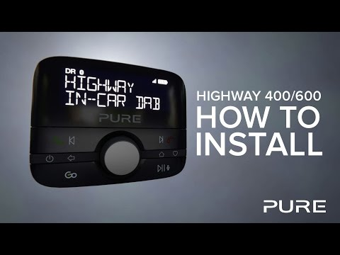 Pure Highway 400/600 - Car Adapter Installation Guide