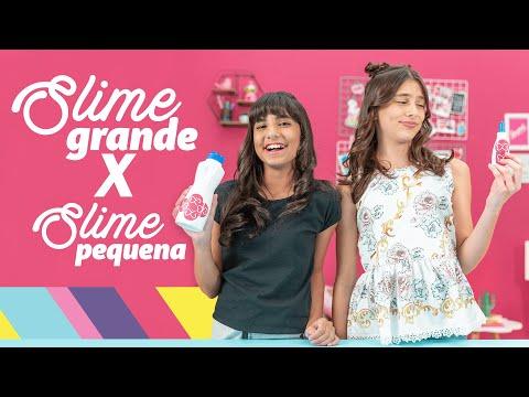 SLIME GRANDE vs SLIME PEQUENA com Gabyy Souza e Maria Clara | ♥ Livre Para Ser