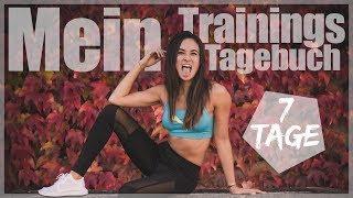 Mein Trainingstagebuch / Fitnessroutine - Volle 7 Tage - Effektiv trainieren - So trainiere ich
