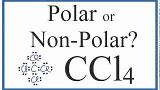 Is Ccl4 Polar Or Non Polar Carbon Tetrachloride Youtube