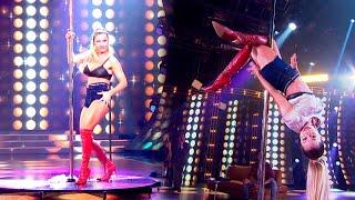Adabel Guerrero se dio el gusto e hizo el baile del caño en la pista de Cantando 2020