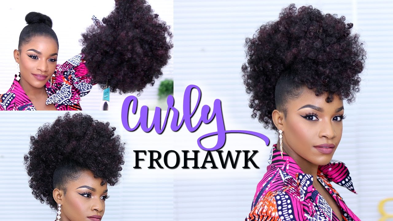 what styles can i do with my natural hair faux hawk using a drawstring ponytail how to do a curly 5989 | maxresdefault