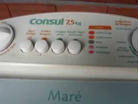 Maquina de lavar consul mare 7 5 ou 10 kilos painel luzes for Consul license
