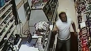 Raw: Clerk Defends Store with Sword