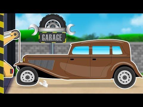Vintage Car Car Repair garage Cartoon Video For Kids Fun videos