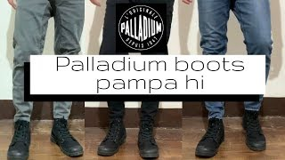 Palladium boots pampa hi black on feet | How to style