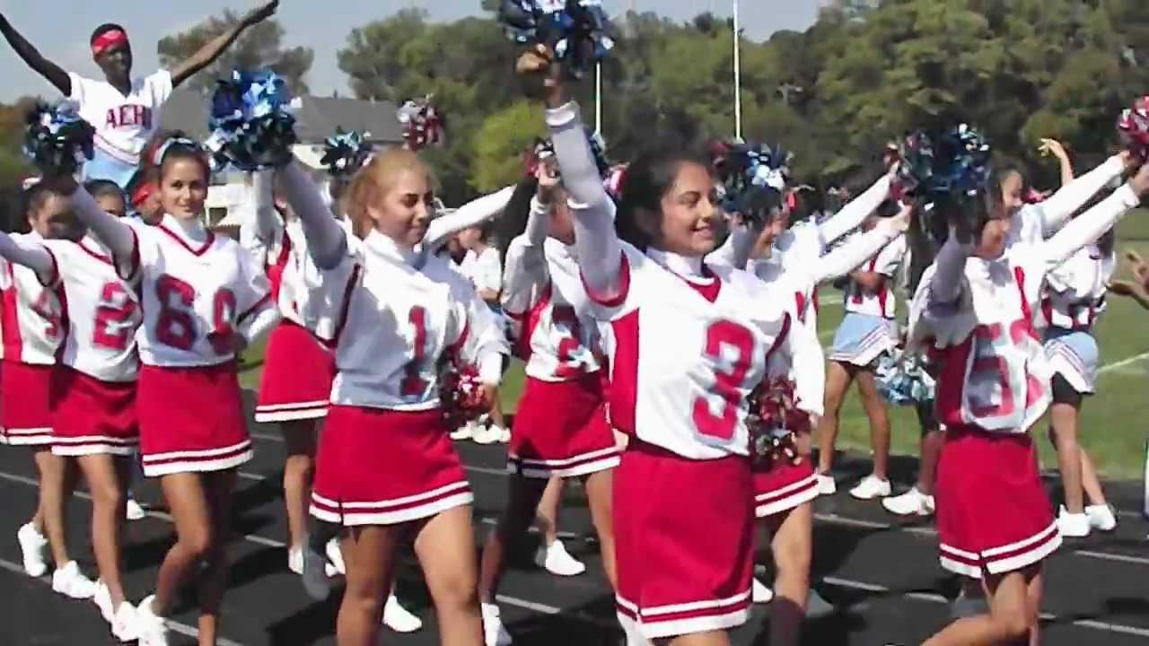 Albert einstein cheerleaders pep rally youtube