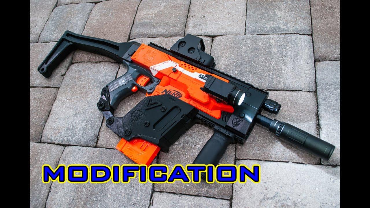 [MOD] Nerf Stryfe | KRISS Vector 3D Printed Kit! - YouTube  [MOD] Nerf Stry...