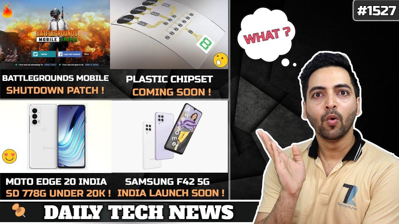 BGMI Shutdown Patch,Moto Edge 20 SD778G India,Samsung S22 65W,Dimensity 1300,Plastic Smartphone Chip