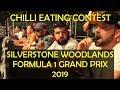 Chilli Eating Contest Silverstone F1 2019