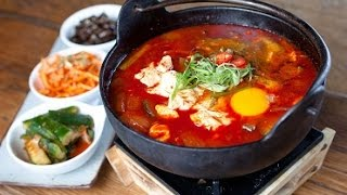 Korean Spicy Tofu Stew, Sundubu Jjigae Recipe  韓式辣豆腐湯