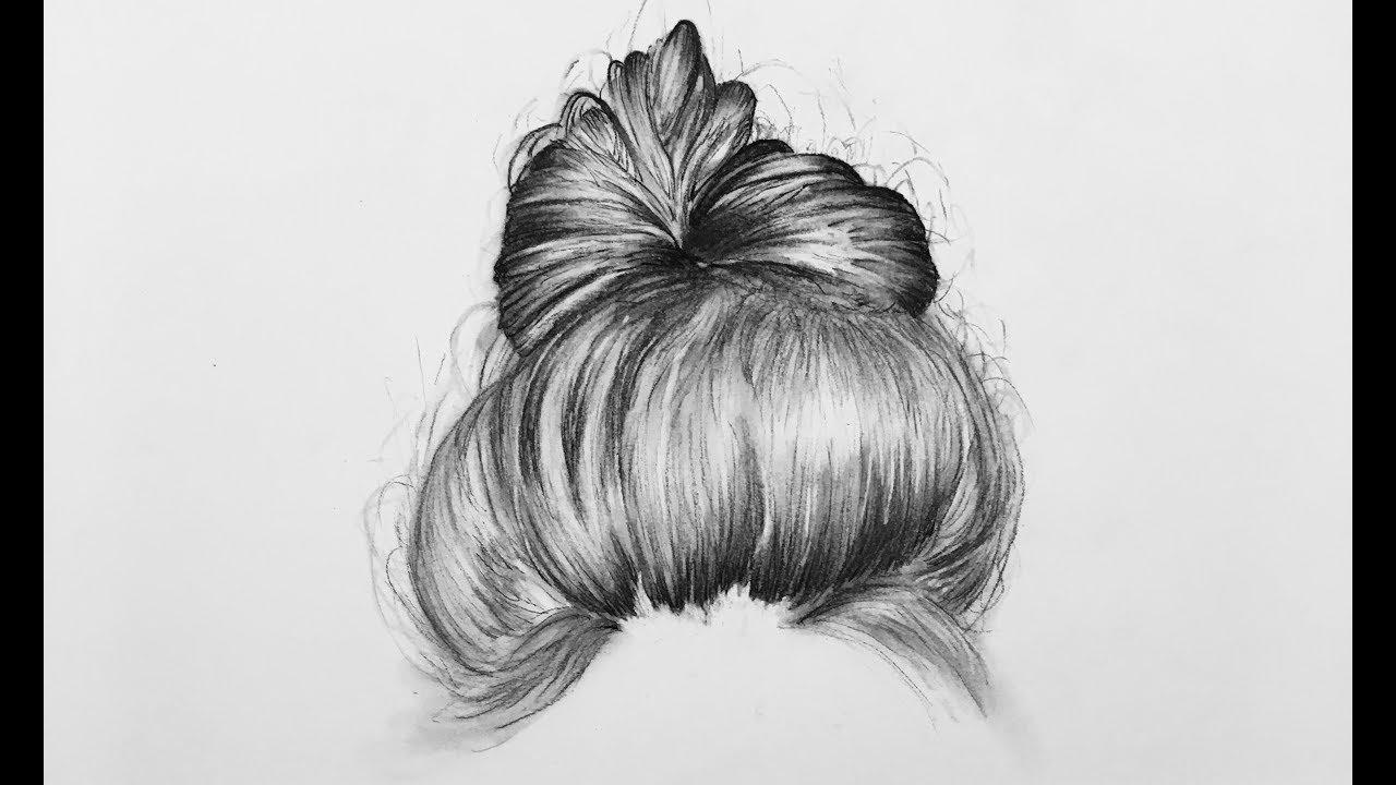 draw hair step