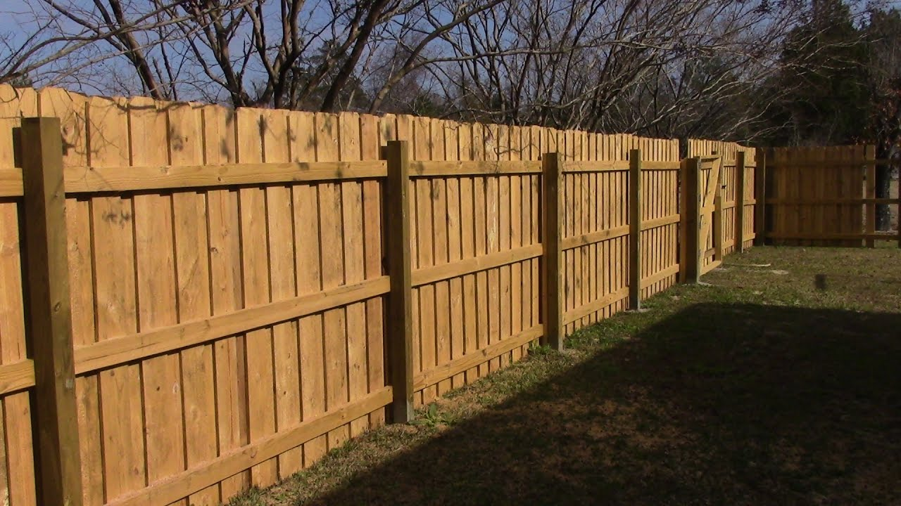 93 Building 70 Feet of Wooden Fence - YouTube