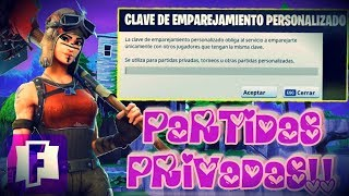 FORTNITE CHILE Partidas Privadas Multiplataforma