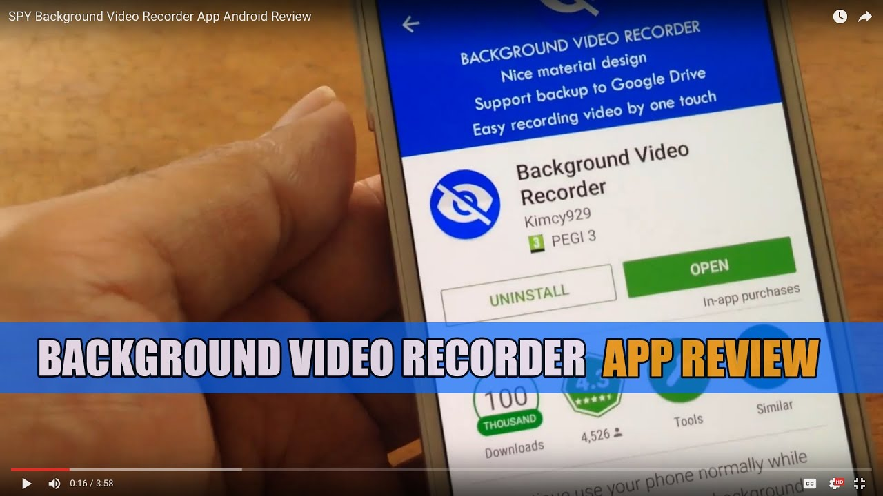 Best Android Apps - Background Video Recorder Review