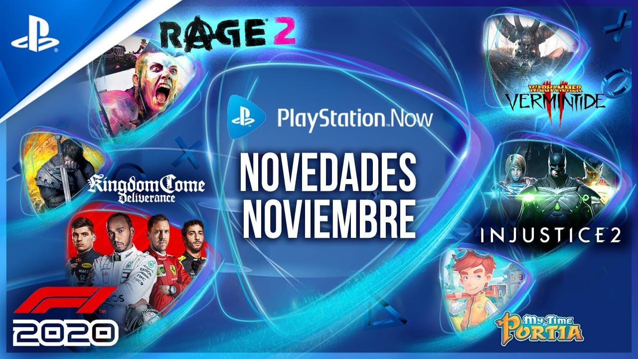 Lo NUEVO de PS NOW en NOVIEMBRE - F1 2020, Injustice 2, Rage 2, Kingdom Come: Deliverance