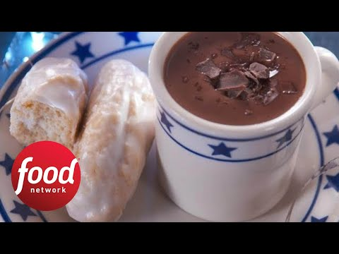 How To Make Nancy's Homemade Doughnut Sticks And Hot Cocoa | Food Network