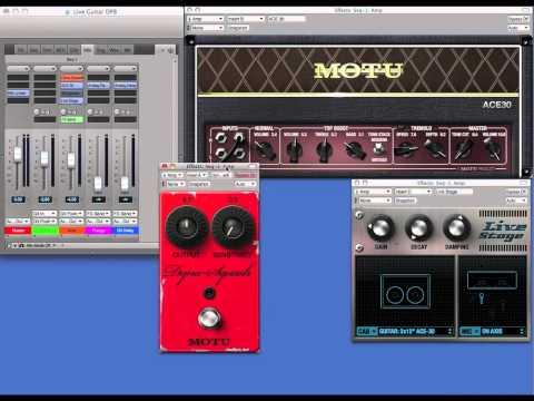 Live Guitar Processing in DP8
