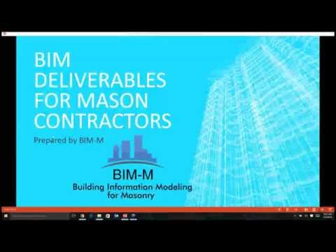BIM Deliverables Guide for Masonry Contractors