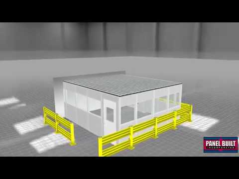 Modular Office with Safety Barrier System | 3D Virtual Fly-Through