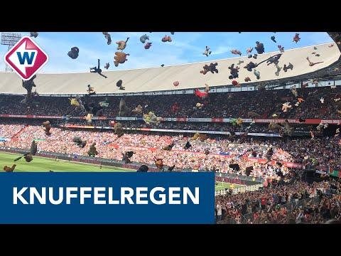 Kippenvel bij knuffelregen voor zieke kinderen tijdens Feyenoord - ADO Den Haag - OMROEP WEST SPORT