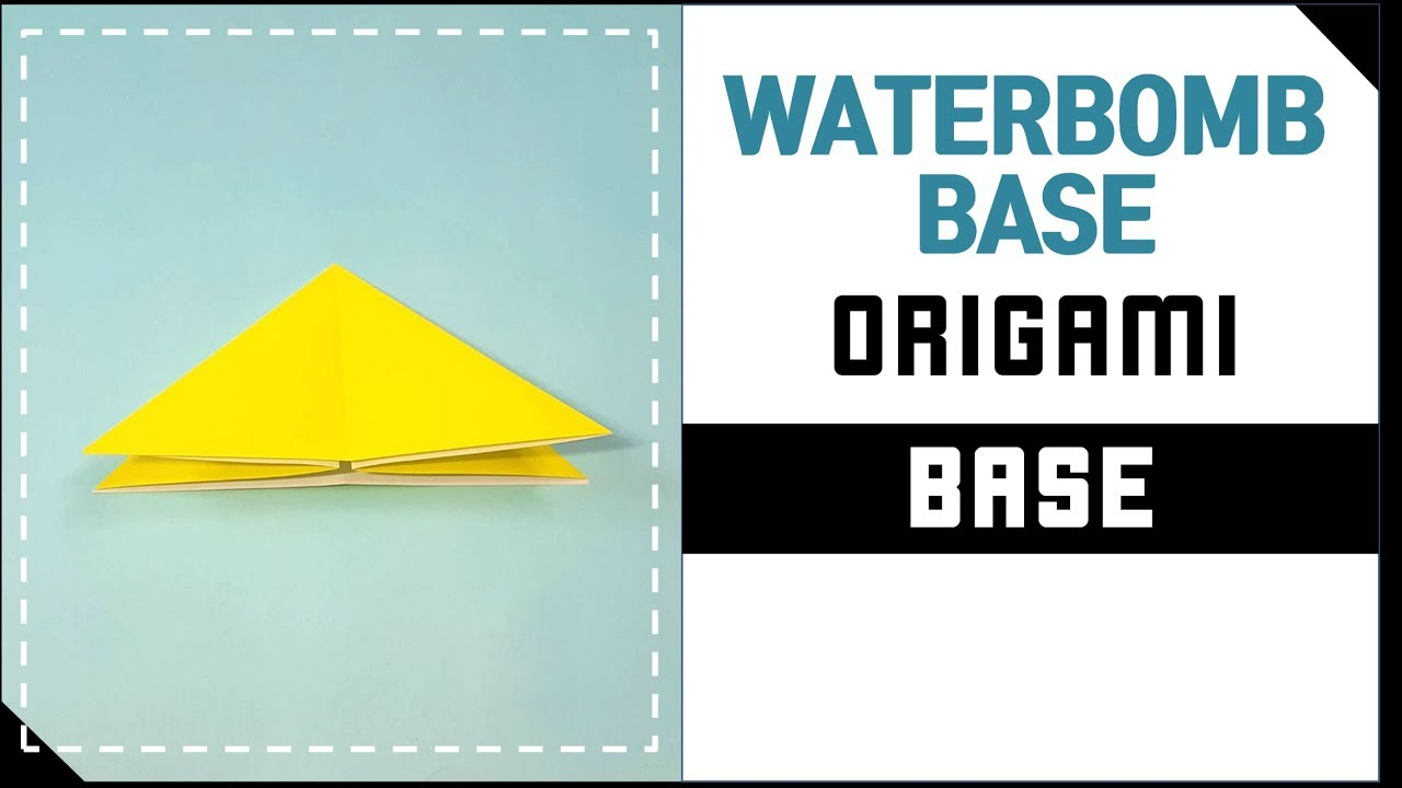 origami base origami waterbomb base�� ���� ���������� youtube