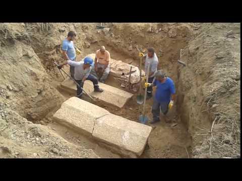 Çanakkale BİGA da antik mezar keşfedildi.  27.09.2016
