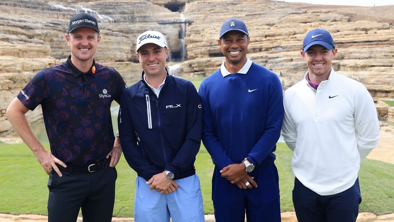 Tiger Woods, Justin Thomas, Rory McIlroy, Justin Rose in Payne's ...