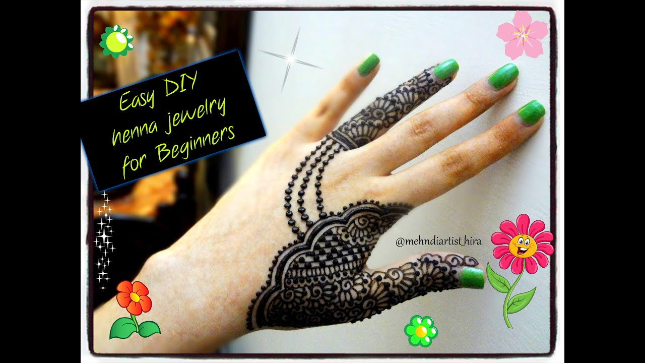 Easy Mehndi Tutorial : Easy simple beautiful jewellery inspired mehndi designs for hands